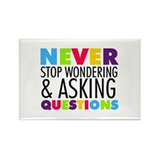 Never Stop Wondering Rectangle Magnet (10 pack)