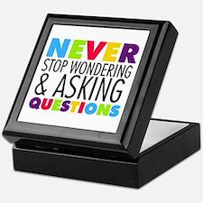 Never Stop Wondering Keepsake Box