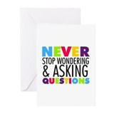 Never stop wondering Greeting Cards (10 Pack)