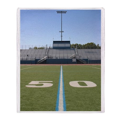 Football Field Fifty Throw Blanket