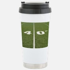 Football Field Forty Stainless Steel Travel Mug