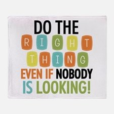 Do The Right Thing Throw Blanket