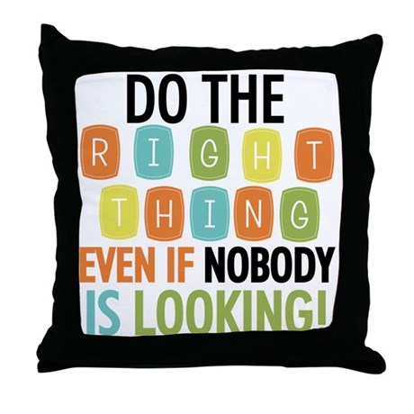 Do The Right Thing Throw Pillow by peacockcards