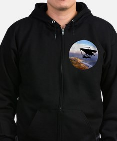 Hang Gliding Over the California Zip Hoodie