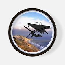 Hang Gliding Over the California Coast Wall Clock