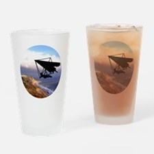 Hang Gliding Over the California Co Drinking Glass