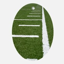 Football Lines Oval Ornament