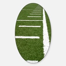 Football Lines Sticker (Oval)