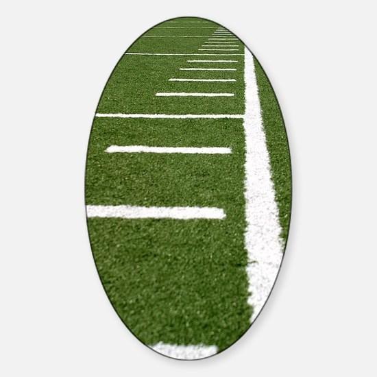 Football Lines Sticker (Oval)