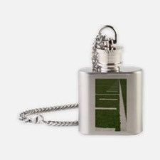 Football Lines Flask Necklace