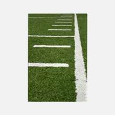 Football Lines Rectangle Magnet