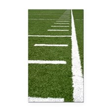 Football Lines Rectangle Car Magnet