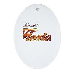 Visit Beautiful Florida Oval Ornament