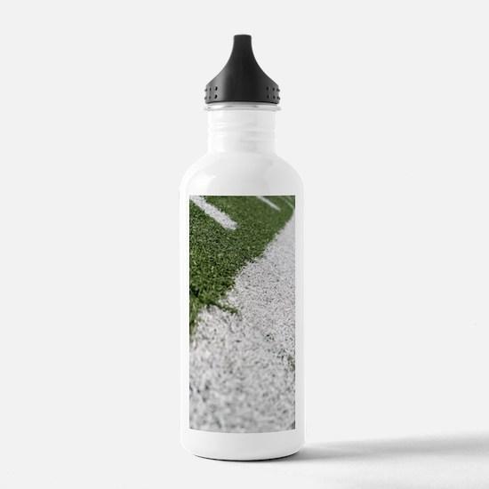 Football Lines Water Bottle