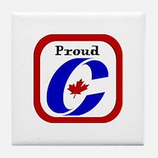 Proud Canadian Conservative Tile Coaster