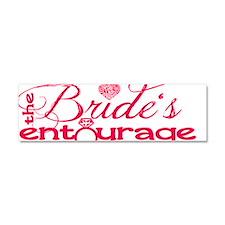 Brides Entourage Car Magnet 10 x 3