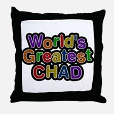 Worlds Greatest Chad Throw Pillow
