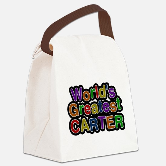 Worlds Greatest Carter Canvas Lunch Bag