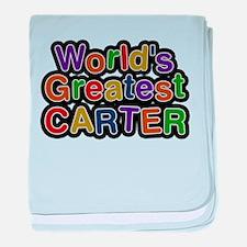 Worlds Greatest Carter baby blanket