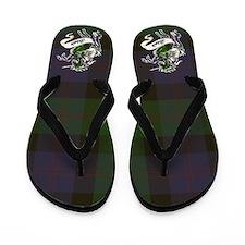Blair Tartan Unicorn Flip Flops