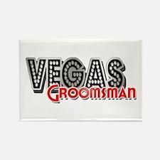 Vegas Groomsman Rectangle Magnet