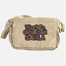 Worlds Greatest Carla Messenger Bag