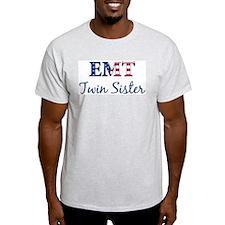 Twin Sister: Patriotic EMT Ash Grey T-Shirt