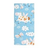 Cow flying Beach Towels