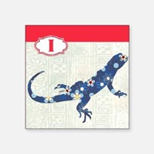 "I is for Iguana Square Sticker 3"" x 3"""