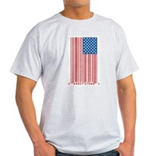 Barcode Flag Ash Grey T-Shirt