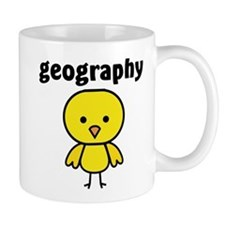 Geography Chick Small Mugs