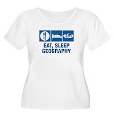 Eat Sleep Geography Plus Size T-Shirt