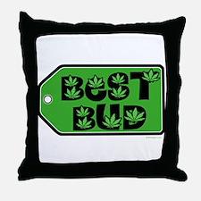 Best Bud Throw Pillow