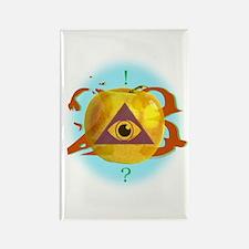 Illuminati Golden Apple Rectangle Magnet