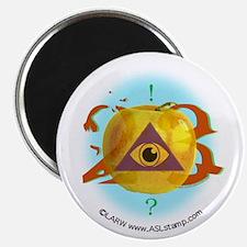 Illuminati Golden Apple Magnet