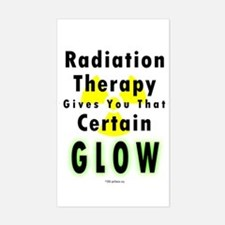 Radiation Glow Sticker (Rect.)