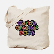 Worlds Greatest Boss Tote Bag