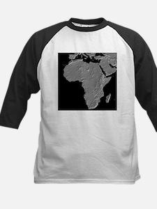 Africa Relief Map Kids Baseball Jersey