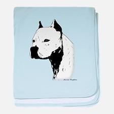 stamp design pitbull,amstaff,bully head design bab