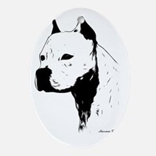 stamp design pitbull,amstaff,bully head design Orn