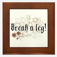 Break a Leg Framed Tile