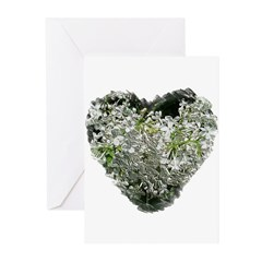 Lilac Heart Art #4 Greeting Cards (Pk of 10)