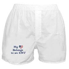 Heart Belogns to an EMT Boxer Shorts