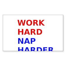 Work Hard Nap Harder Decal
