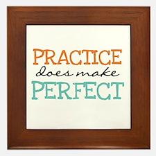 Practice Does Make Perfect Framed Tile