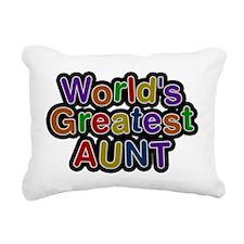Worlds Greatest Aunt Rectangular Canvas Pillow