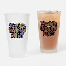 Worlds Greatest Aunt Drinking Glass