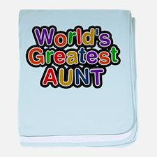 Worlds Greatest Aunt baby blanket