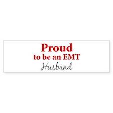Proud EMT: Husband Bumper Bumper Sticker