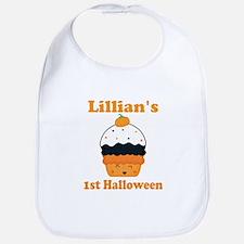 Personalized 1st Halloween Cupcake Bib